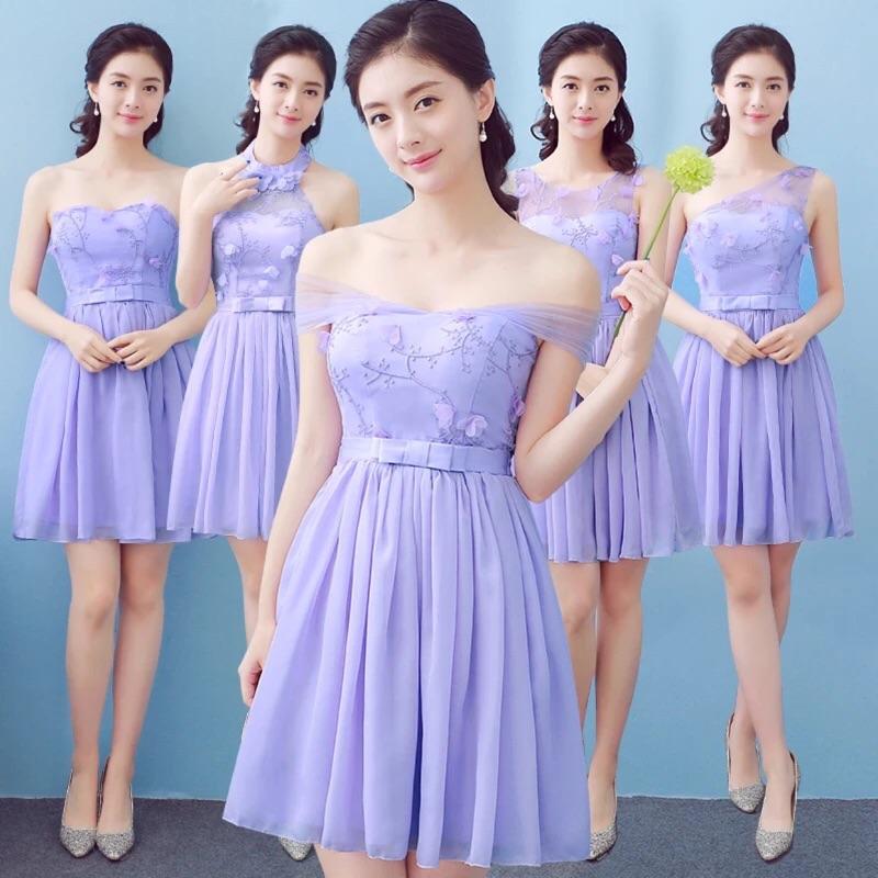 預售姐妹團伴娘服短款 甜美生日聚會晚禮服2016 顯瘦宴會連衣裙短款洋裝