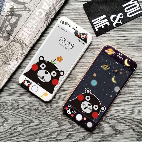 熊本萌熊玻璃螢幕保護貼保貼iPhone7 iPhone6 s plus i6 i7 H00