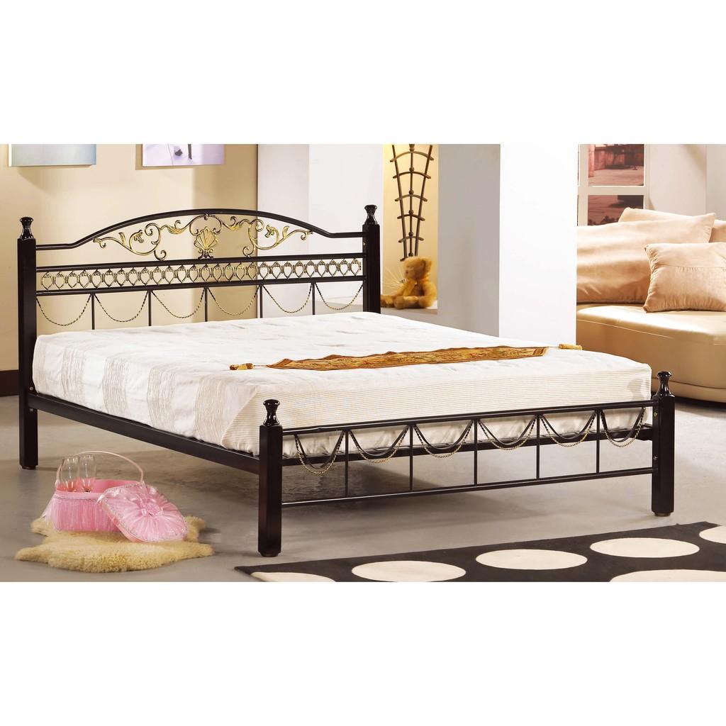 ~昱陽傢俱~艾爾3 5 尺黑色單人鐵床單人床床台床架 白色~桃園以北免 ~ 品