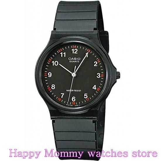 ~幸福媽咪~CASIO 卡西歐 貨 指針石英錶可 店面MQ24 1B MQ 24 1B