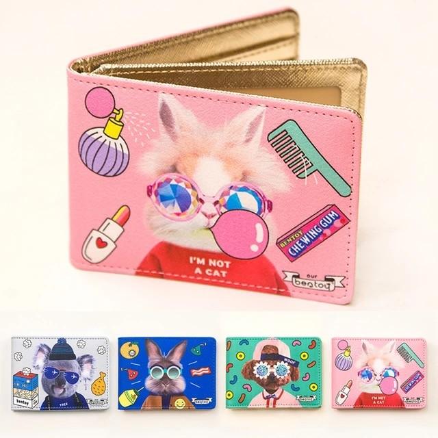 ~F U ~ 實拍動物土豪雙層卡片夾名片夾證件夾女士女用信用卡夾悠遊卡夾B290078