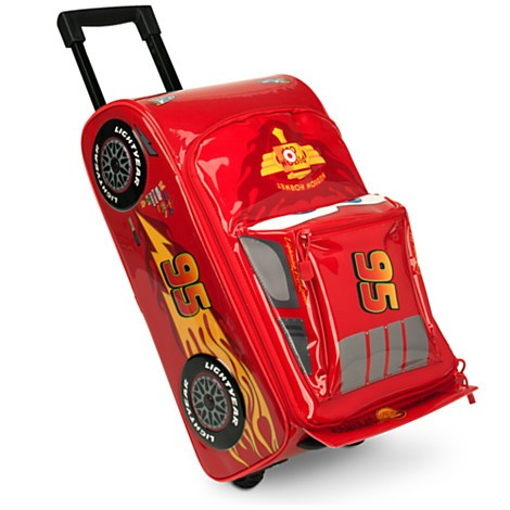 美國迪士尼 正品閃電麥坤登機箱可拉可提有按鈕可發出麥坤車聲浪美國迪士尼店入行李箱兒童節生日