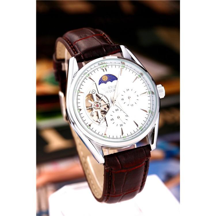 奢侈品牌機械手錶男錶 鏤空腕錶皮革錶帶男士手錶