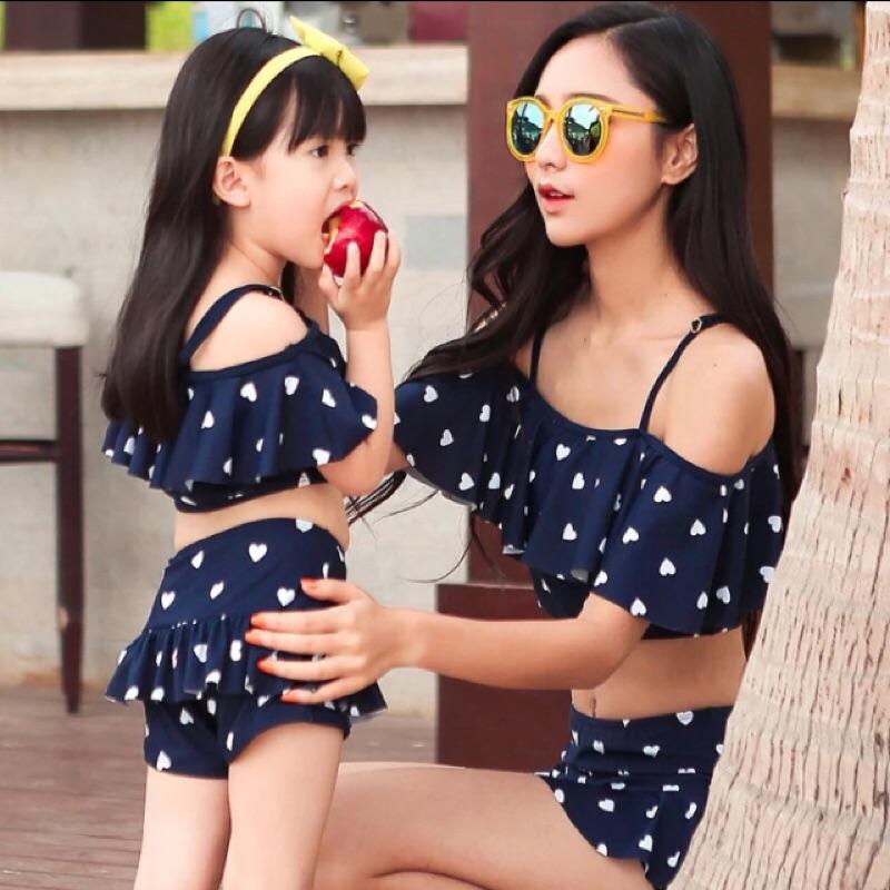 韓國親子母女泳裝