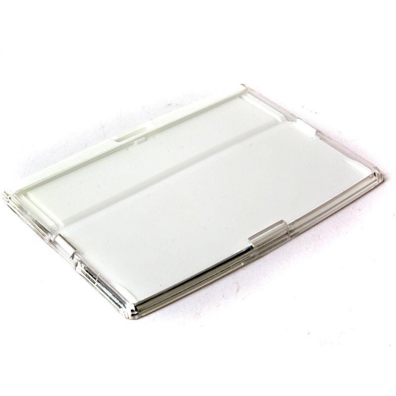 GIFUTO 通勤辦公 彩色PC 硬殼卡片夾卡夾悠遊卡套證件套識別證套車票卡套橫式白ZA