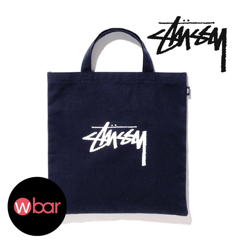 雜誌附錄STUSSY 黑色LOGO 托特包手提包帆布包書包 袋潮流品牌扁型方包通勤袋