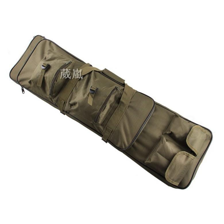 WLder 100CM 步槍雙槍袋綠BB 槍玩具槍衝鋒槍槍盒槍箱長槍袋416 T91 M4