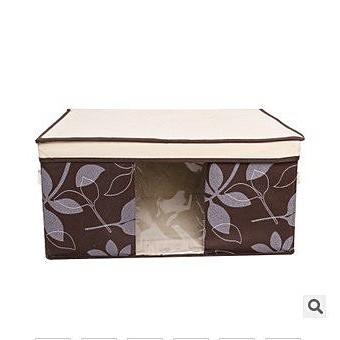 ~Ad010 ~ 家居日用無紡布收納箱樹葉款收納盒百納箱整理箱大號