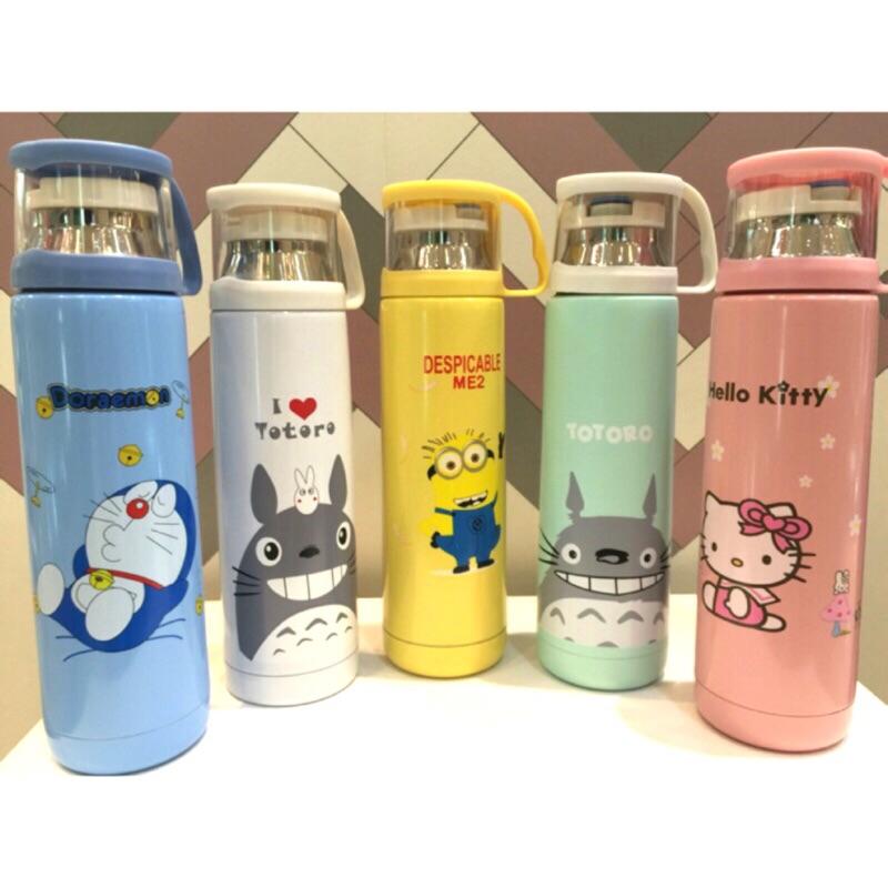 kitty 凱蒂、龍貓、小小兵、哆拉A 夢304 不銹鋼保溫瓶
