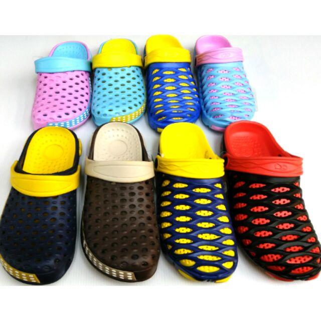 雨天情天一鞋二用輕量好穿園丁鞋布希鞋涼鞋拖鞋止滑透氣可涉水護趾軟輕易穿脱