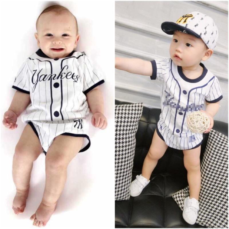 ~ ~男童寶寶棒球服短袖T 恤屁屁褲短褲洋基隊洋基Yankees