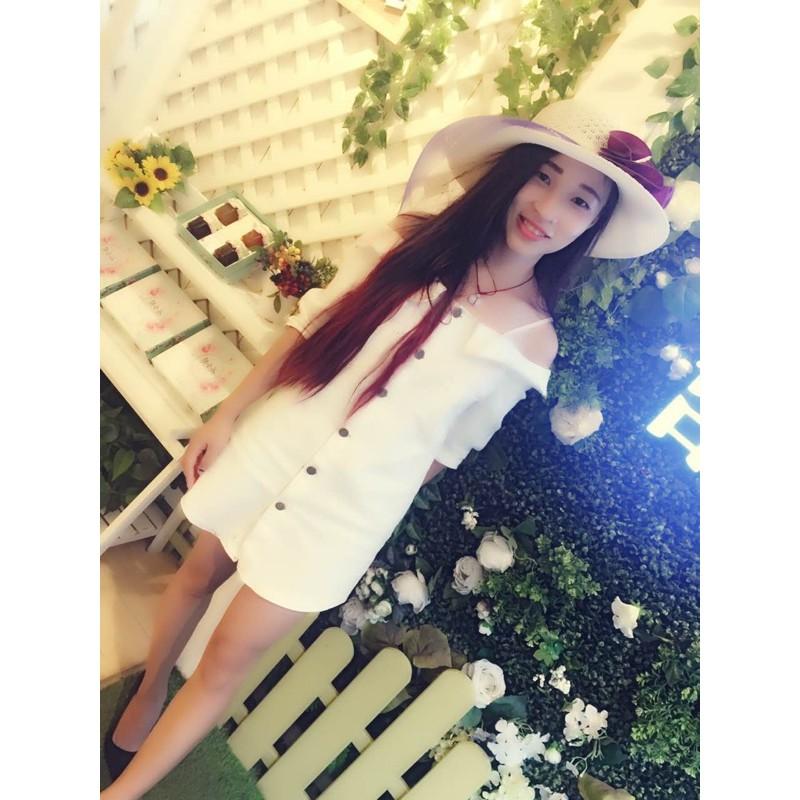 2016 夏裝 女裝一字領露肩連衣裙 性感白色吊帶顯瘦直筒裙子