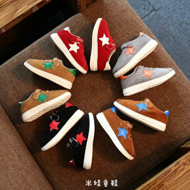 2016 1 6 歲 磨砂皮五角星板鞋男女童 鞋休閒鞋