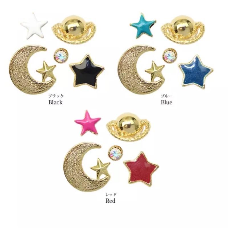❤️宇宙月亮星球星星耳釘耳飾