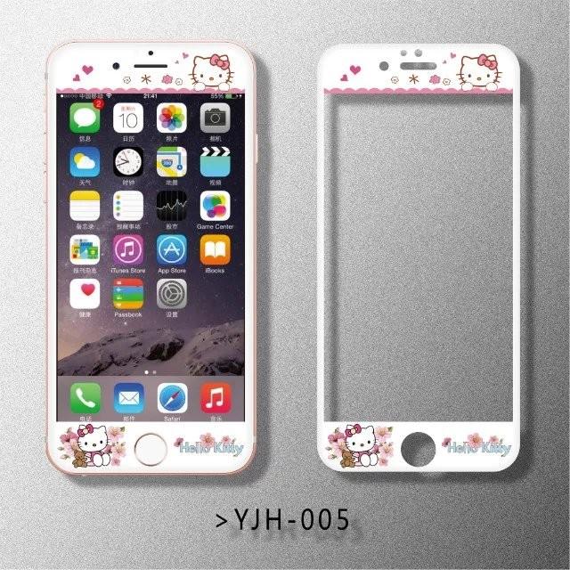 3 ️⃣多款卡通浮雕鋼化膜前膜滿版鋼化膜iphone6 6s 卡通iphone6plus