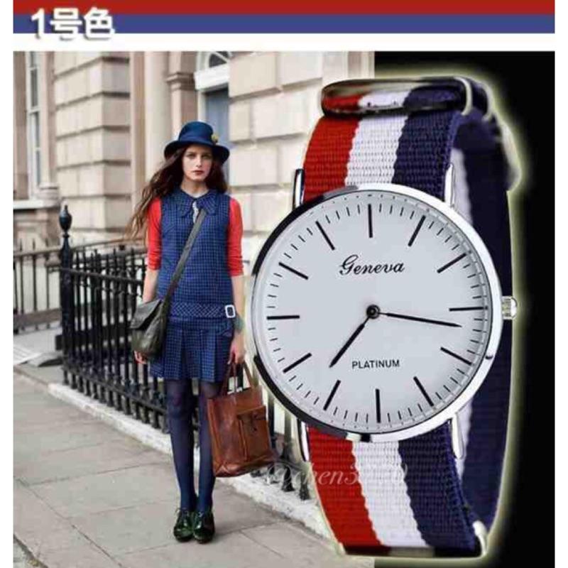 日內瓦geneva 英倫風超薄簡約復古帆布尼龍手錶男錶女錶中性錶閨密錶情侶對錶