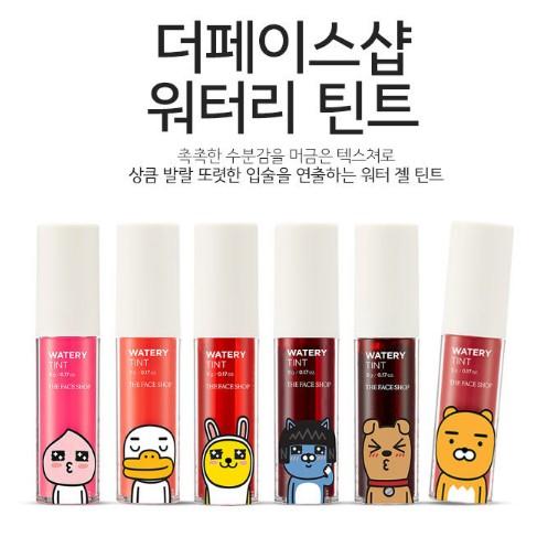 KAKAO TALK 水感唇蜜The Face Shop 扣尼貓正韓