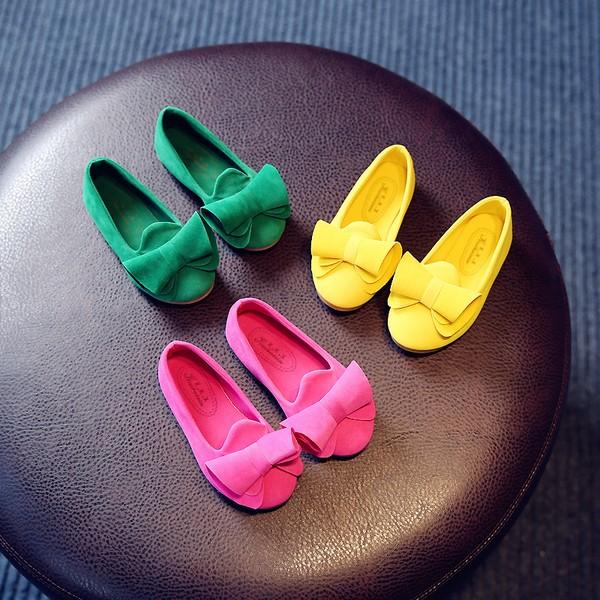 兒童可愛蝴蝶結公主鞋