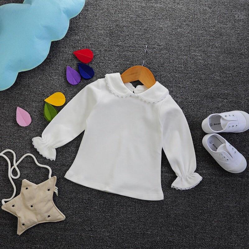 曈曈Baby 女童秋款純棉長袖兒童T 小翻領打底衫女寶寶打底衣針織衫