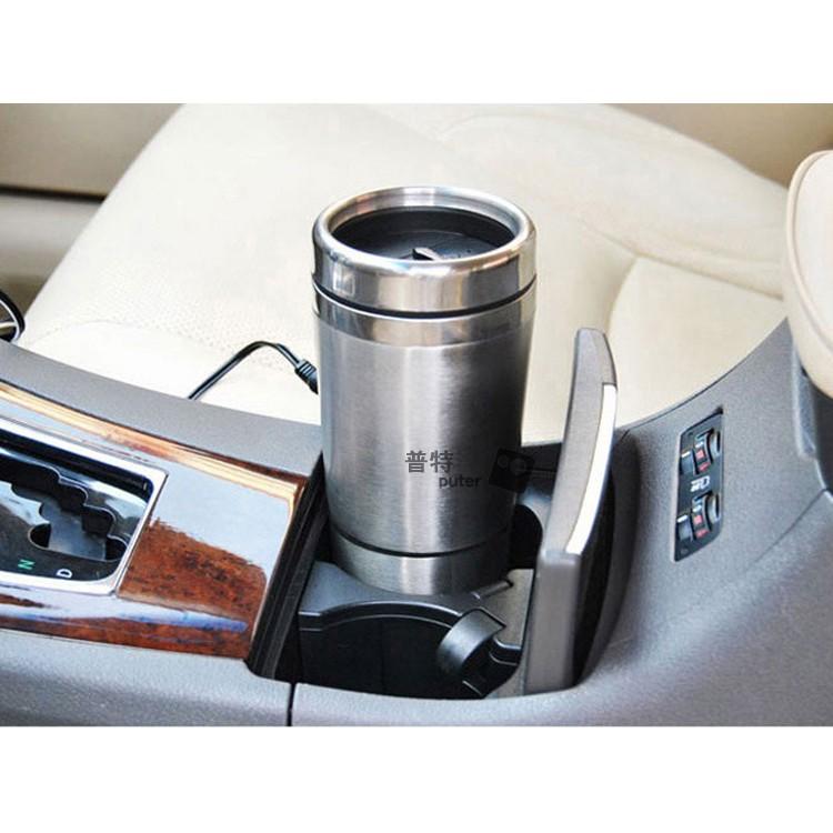 汽車加熱水杯加熱100 度車載電熱杯12V 汽車用熱水器加熱杯燒水壺保溫杯水杯普特汽車