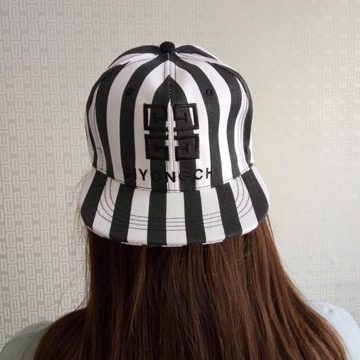 GD 權志龍4G 標誌棒球帽斑馬紋防曬純棉條紋刺繡嘻哈帽