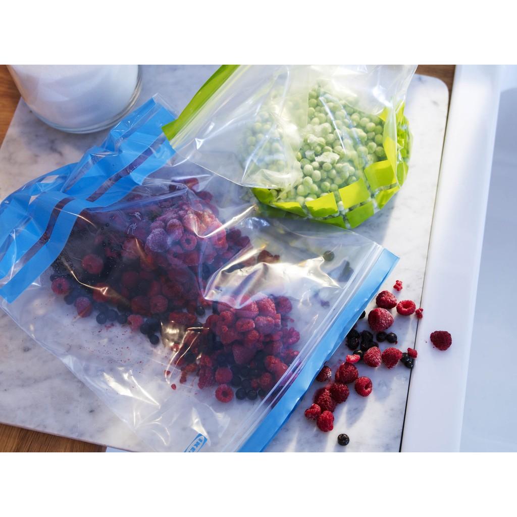 盒裝雙層夾鏈袋保鮮袋雙層密封袋食物 夾鏈袋冷凍袋IKEA 保鮮餅乾麵包手機防潮防水袋寶寶副