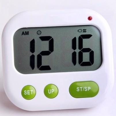 今天出超 可靜音震動或音樂提醒雙鬧鐘大字幕背光時鐘有正倒數計時器