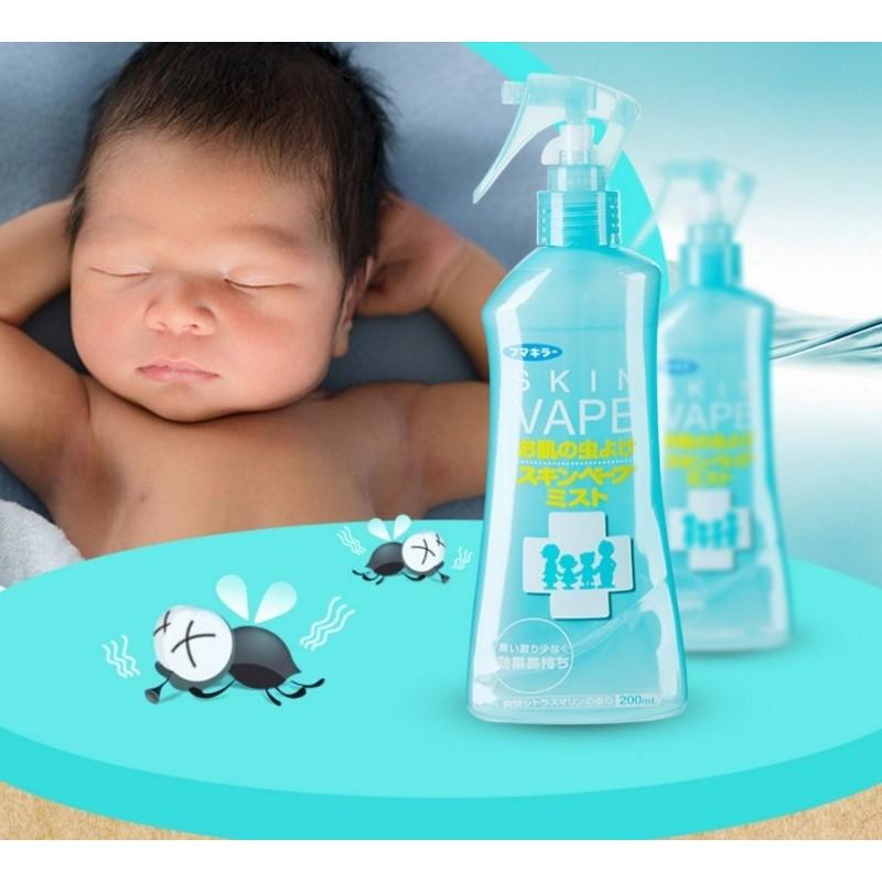 VAPE 寶寶驅蚊水噴霧嬰兒童防蚊液戶外蚊蟲叮咬清涼柑橘200Ml