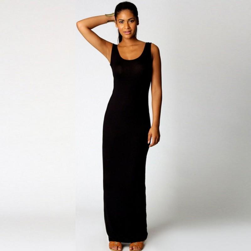 Fanala 6 色圓領無袖婦女派對性感小背心長裙