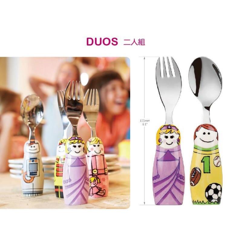 { ❤️ 爲止}EAT 4 FUN 高 316 不鏽鋼兒童餐具DUOS 二人組