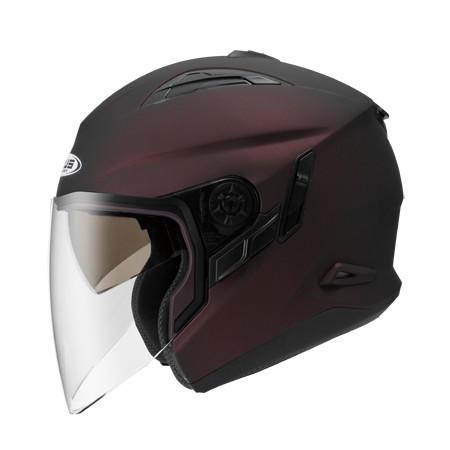 ZEUS ZS 613B 消光酒紅~ 內藏式遮陽鏡片機構,操作方便、可保持良好視線~