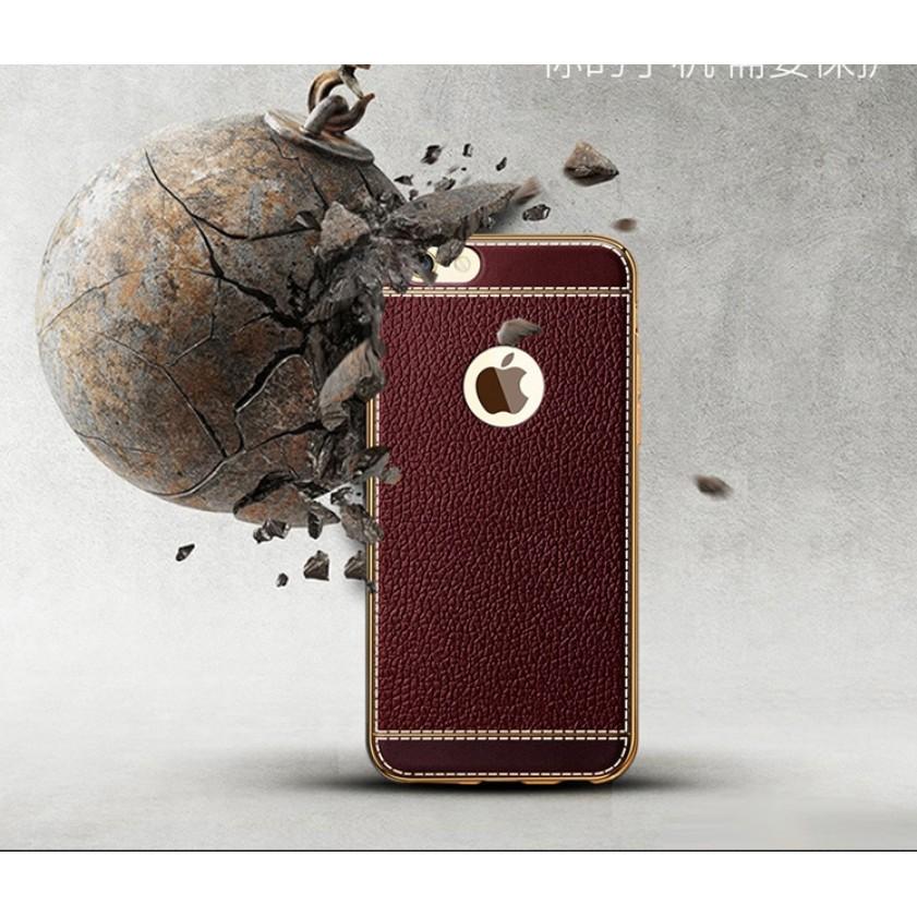 蘋果iphone6 plus 手機殼潮男奢華防摔電鍍金屬邊框皮質軟矽膠商務日韓簡約