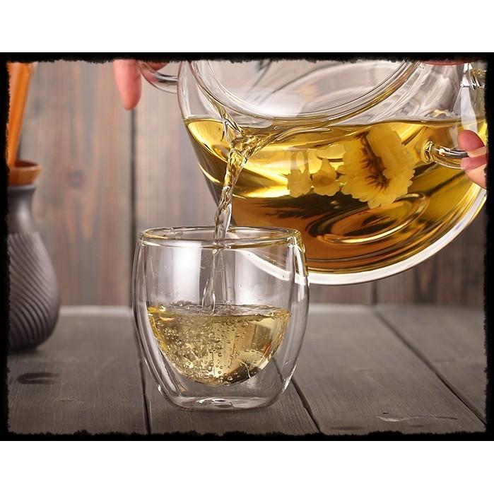 香蕉約翰雙層耐熱玻璃杯 透明杯子雙層隔熱茶杯水杯牛奶杯咖啡杯