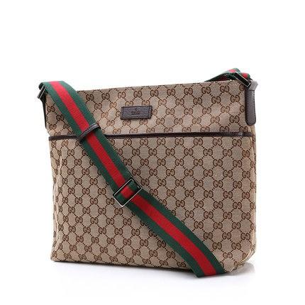 Gucci 古馳古琦古奇正品男士單肩包商務手提包斜挎包男包中號
