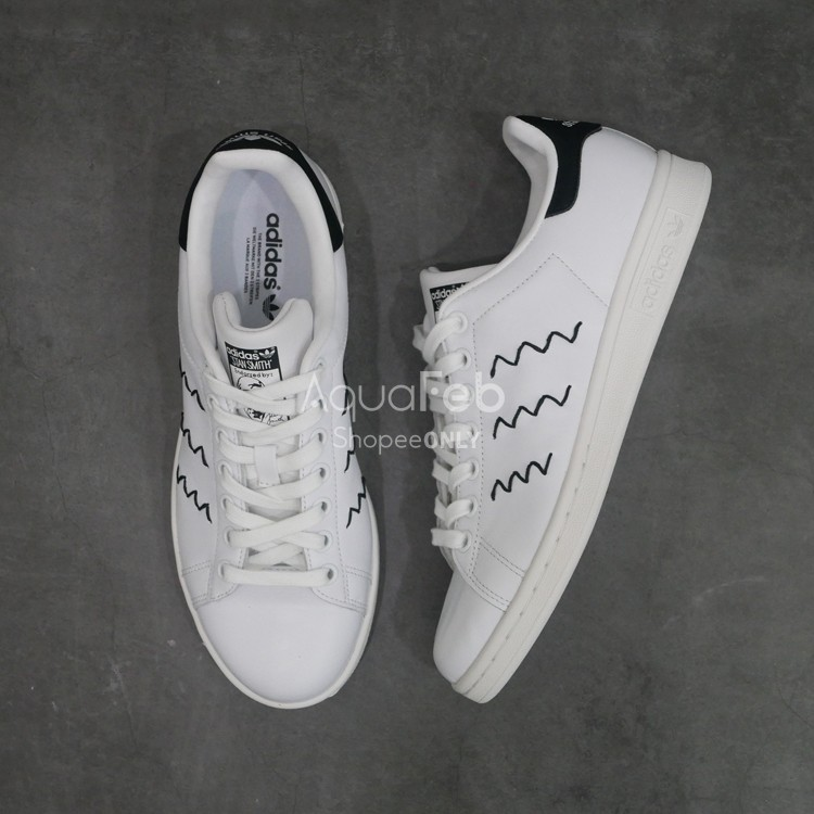 5 折adidas Original Stan Smith Zig zag Black A