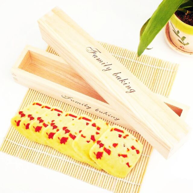 ~禎巧妙~蔓越莓餅乾模小吉餅乾模長方形木框餅乾盒木制餅乾整形器壓模長方形木框餅乾盒烘焙工具