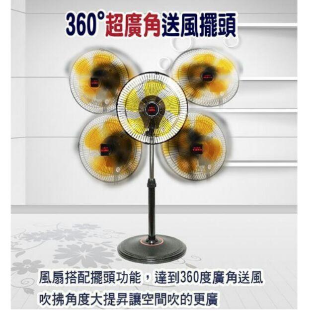 360 度立體擺頭工業立扇涼風扇循環扇360 度電風扇12 寸14 寸16 寸