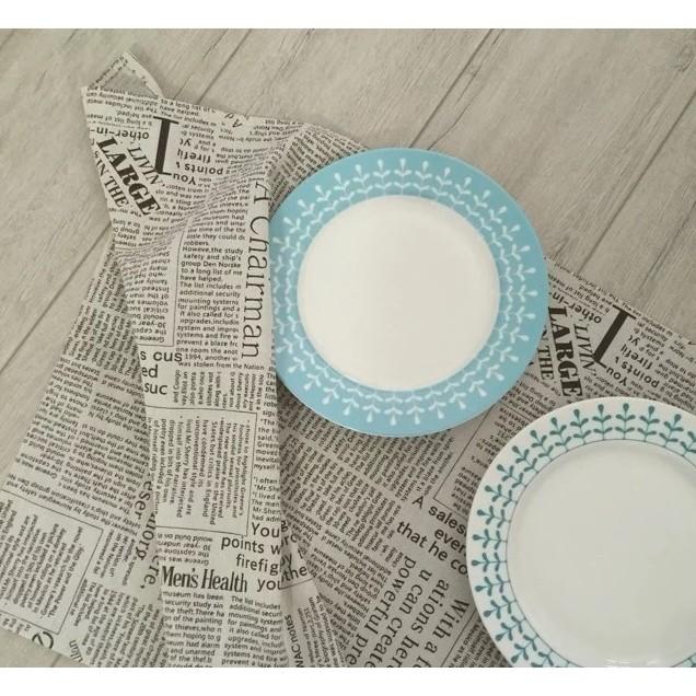 歐式英倫風~咖啡色英文郵報桌巾~ZAKKA 英文報紙棉麻桌巾茶巾餐墊摄影道具