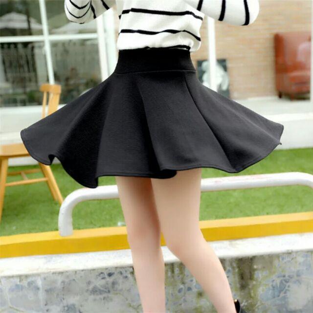 A 字群傘狀裙高腰百褶蓬蓬裙內搭安全褲短裙女短裙春夏