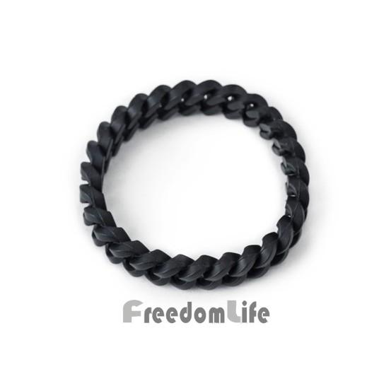 ~FREEDOMLIFE ~春夏男女同款美式街頭 利器黑白環保矽膠手環手鍊