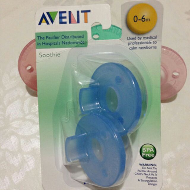 PhILIPS AVENT Soothie 一卡2 入美國 無香奶嘴