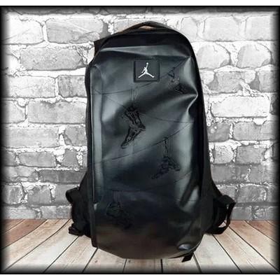 潮流雙肩包黑色印花男AJ 籃球書包純色美國喬丹背包電腦包