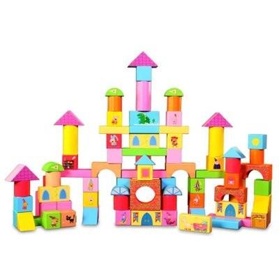 BABY 媽咪天堂→ ~Peppa Pig ~←粉紅豬小妹配對圖型桶裝積木