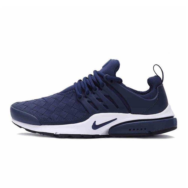 Nike Air Presto SE Woven 編織魚骨 舒適慢跑鞋男鞋藍
