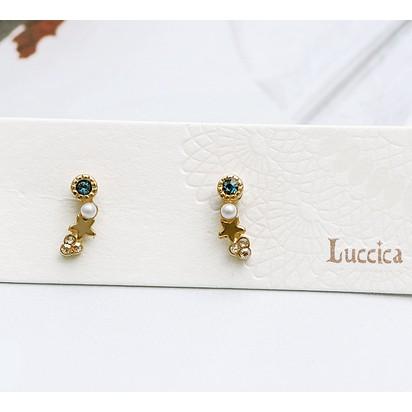 〔apm outlet 〕 Luccica 泡沫魅影閃耀星燦耳環