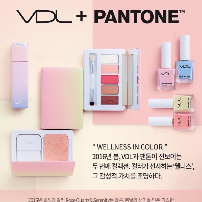 韓國 VDLxPantone 聯名 貝殼光氣墊粉餅大理石腮紅