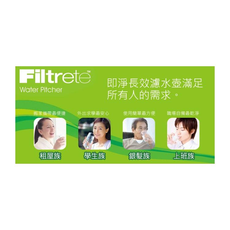 3M Filtrete 淨呼吸™WP3000 /SP3000 即淨長效濾水壺濾心濾芯/濾水