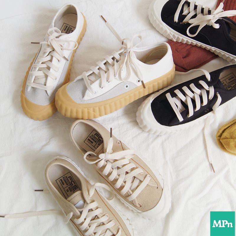 焦糖餅乾鞋 新一代餅乾鞋 奶茶色 厚底鞋 帆布鞋 小白鞋 布鞋 奶茶鞋 增高鞋 女鞋 休閒鞋 懶人鞋 女生