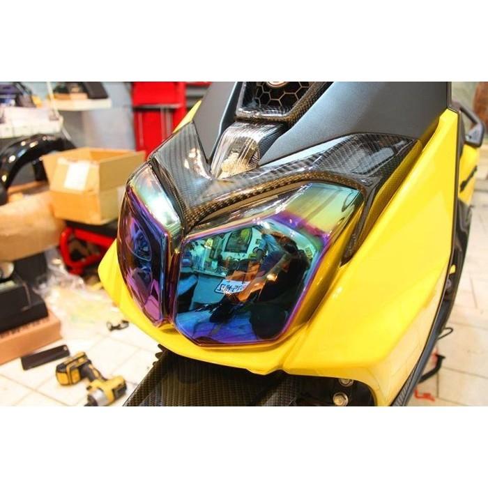 BWSR 幻彩大燈護片電鍍墨片七彩電鍍色燒鈦色彩鈦燈罩完整包覆透光性佳高密合度