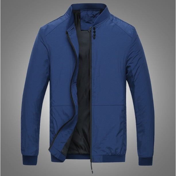 卡美拉衣櫃 春 薄款夾克男 修身外套立領青年百搭外衣褂子大碼潮流18